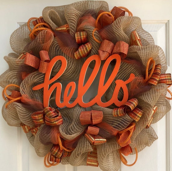 hello wreath