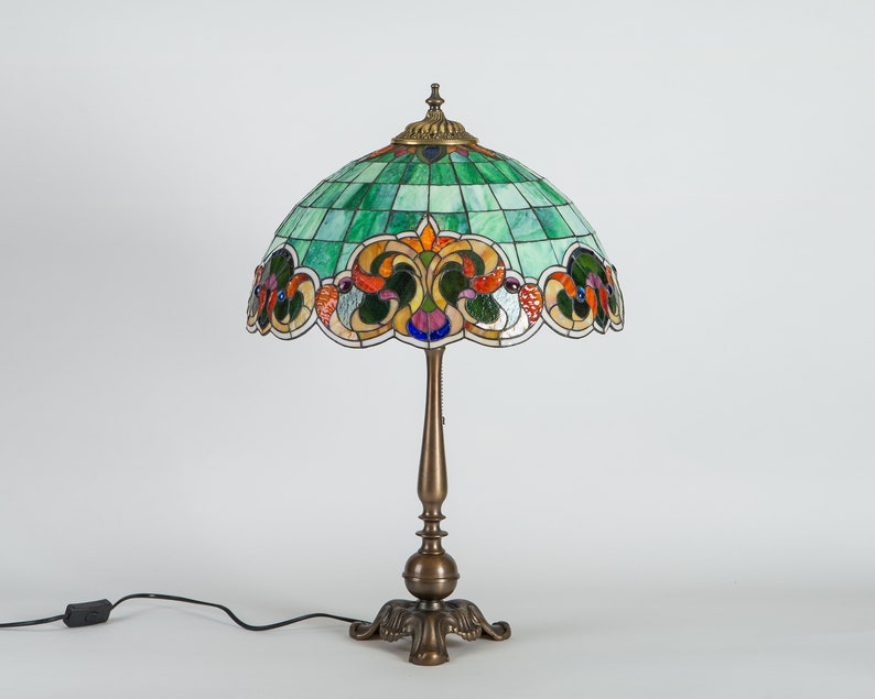 Unique stained glass lamp shade 8th
