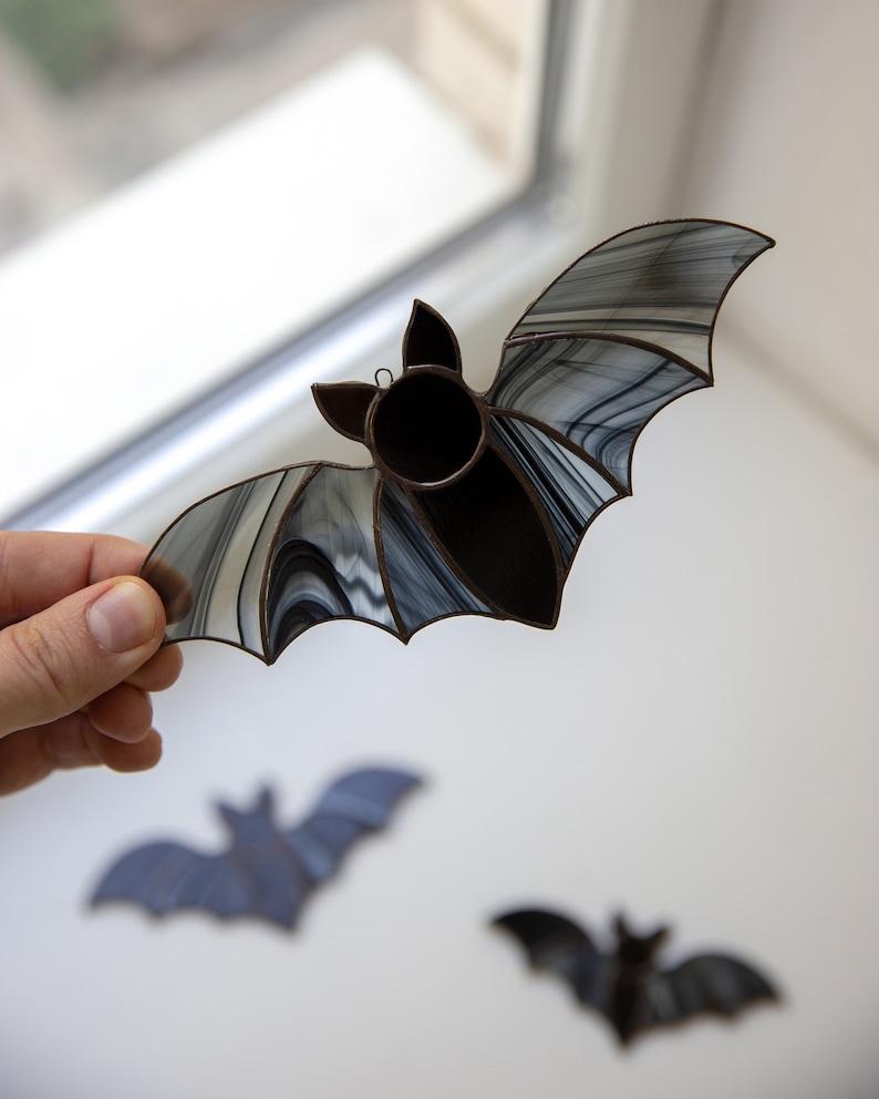 Halloween decor Vampire bats set Christmas gift Stained glass window hangings horror decor Halloween gift