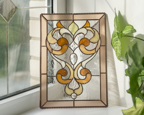 Custom Stained Glass Window Panels.Custom Stained Glass Window Panel New House Gift Stained Glass Window Hangings