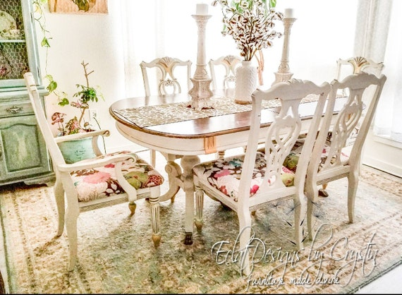 Spring Garden Victorian Dining Table