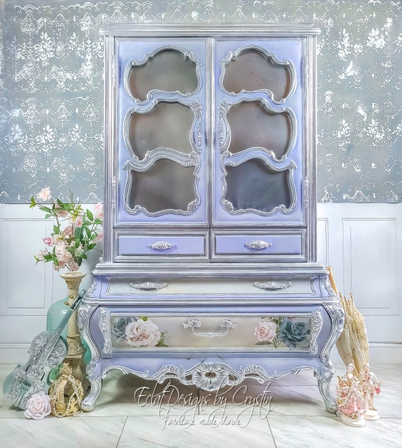 Rococo | Versaille | Ornate Wardrobe | Armoire | Fairytale Furniture | Bombe | French | Painted Furniture | Home Decor | Baroque | Bedroom
