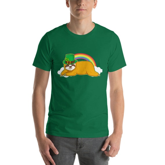 St. Patrick s Day Shirt. Lucky Sloth Leprechaun with Pot  ef4c67cd29f