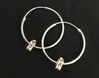 Sterling Silver Endless Hoop 24mm