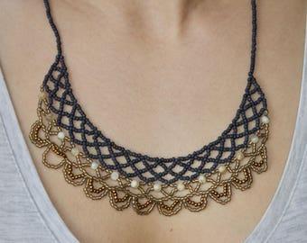 Blue Ashkhar Necklace