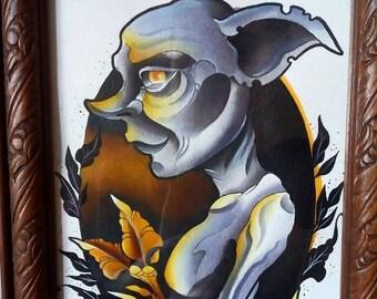 Dobby Harry Potter - Neotradional Original framed painting