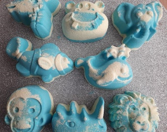 Zoo Animal shaped Bath Bombs .uk. gifts for children