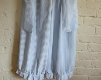 NEW Rustic Striped cream grey red linen Long Bloomers Pantaloons Lagenlook hippy