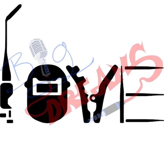Love Welder Ai Eps Pdf Png Svg Vector Serigrafia Textil Etsy