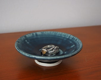 Small Blue Ring Dish - Ready to Ship