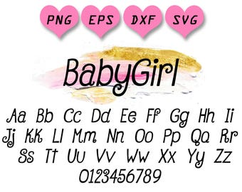 Curly Font Svg Girl Girly Letters Alphabet Swirly