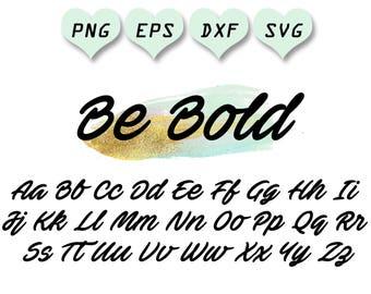 Cursive Font Svg Letters Alphabet Handwritten Brush Script File Eps Dxf