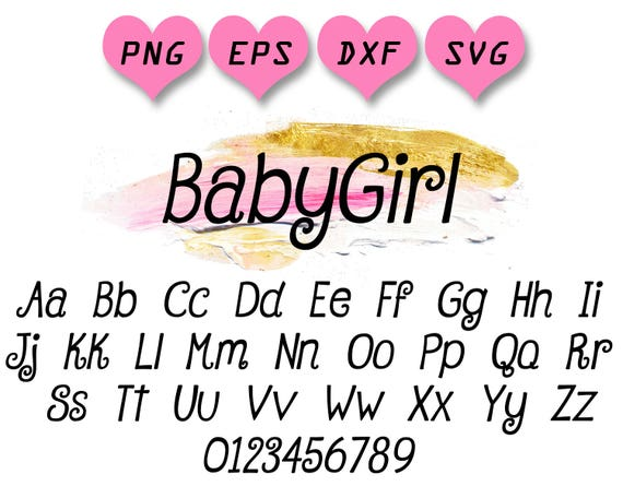 Curly Font Svg Girl Font Svg Girly Font Svg Curly Letters Etsy