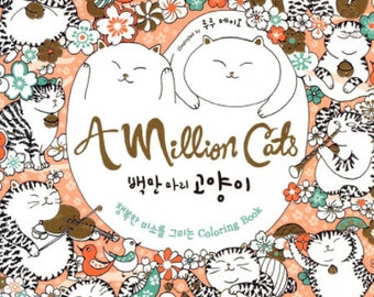 Million Cats Coloring Book By LulumayoAdult Books For Adults