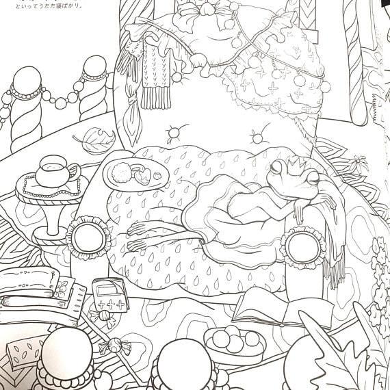 Japanese Coloring Book Ruby/'s Sweet Dream Coloring Book by Inko Kotoriyama