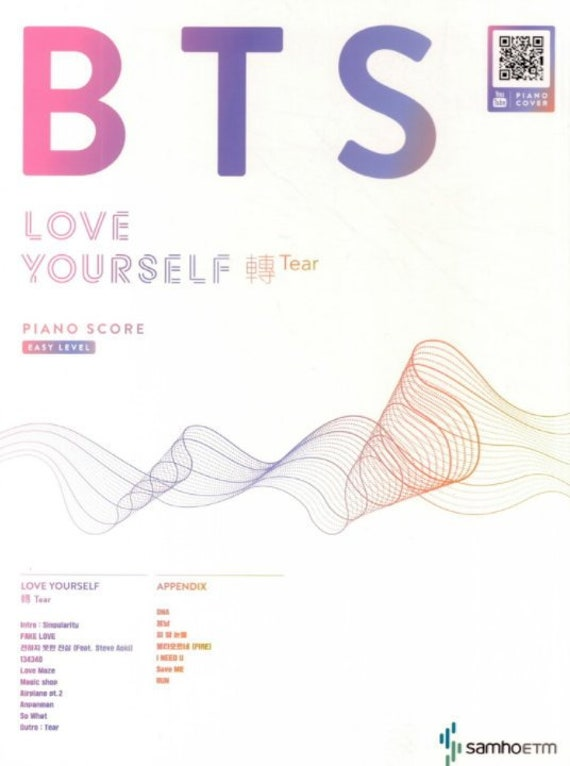BTS Love Yourself Tear Piano Sheet Music Book For Easy Level