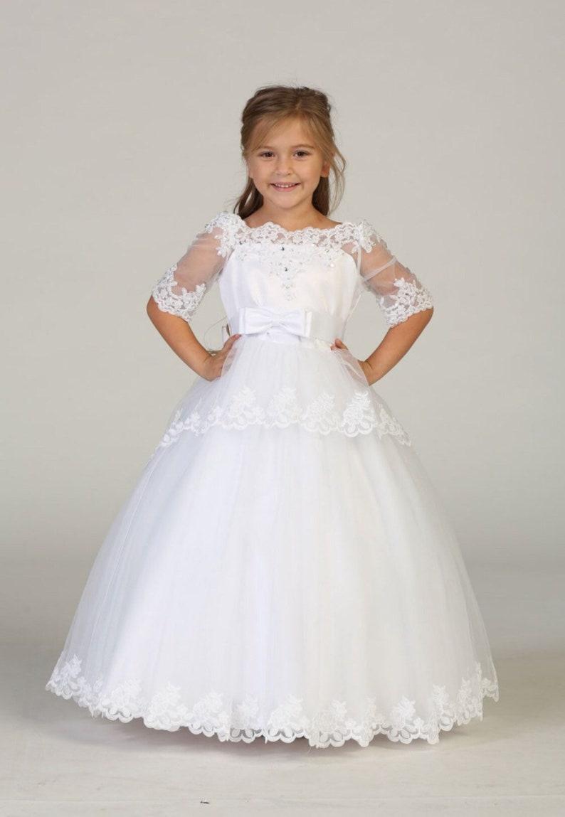 d899795f31 Julia Dress First Communion Elegant lace pageant Dress off