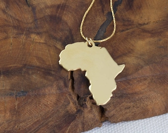 World map necklace etsy africa necklace african pendant africa charm travel necklace world map necklace gumiabroncs Gallery