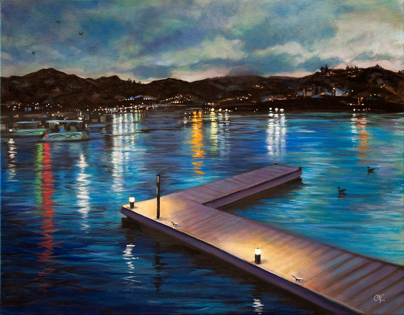 Original oil painting A Pier To Nowhere  A image 0