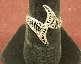 Silver Filigree Wave Ring