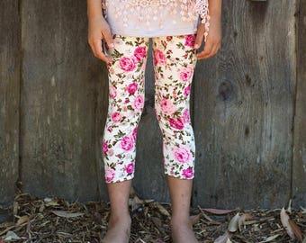 Lily Floral Leggings - Girls' floral leggings