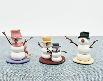 Christmas snow man figurines X-MAS ceramic winter table ornaments decoration new