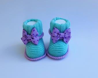 Beautiful Handmade Baby Girl Booties