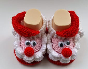 Santa Claus baby booties