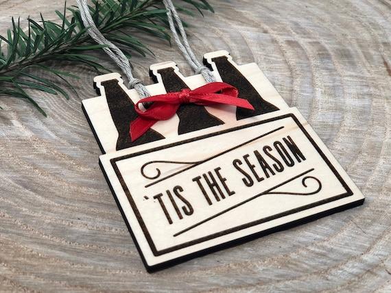 Beer Christmas Ornament // Beer Ornament // Christmas Tree Ornaments //  Wood Ornaments // Engraved Christmas Ornaments // Funny Ornament - Beer Christmas Ornament // Beer Ornament // Christmas Tree Etsy