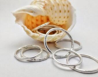 3 Handmade Stackable Rings