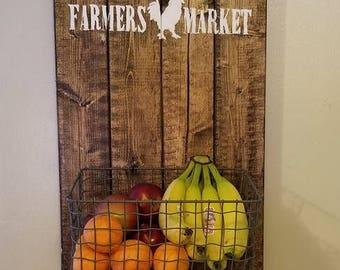 Farmers Market Hanging Fruit Basket