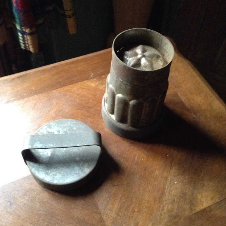 An antique vintage French ice cream jelly mould.