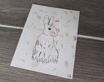 Bunny - Watercolor Pen Art