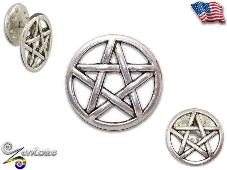 Pentacle Pagan Celtic Knot Lapel Pin Pentagram Amulet Talisman Witch Wicca  Witchcraft Hebrew Magick Star Pewter Brooch Lapel Hat Tie Handbag