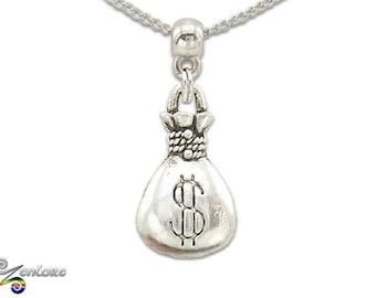 Rich Money Bag Broker Banker Chain Necklace