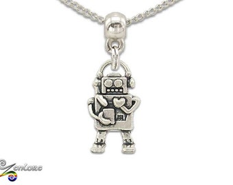 Robot Bot AI Droid Android Chain Necklace