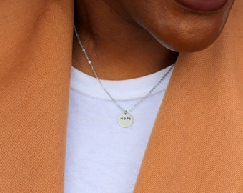 Hope Necklace - Hand Stamped Necklace - Personalized Jewelry