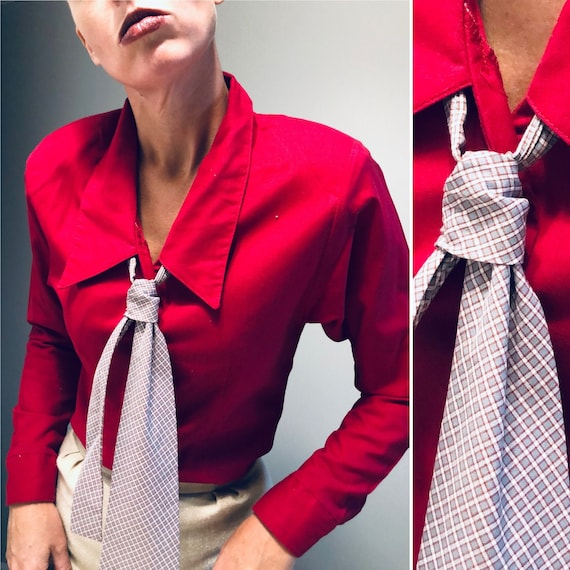 Vintage Secretary Blouse with Pussy Bow| Gunnesax