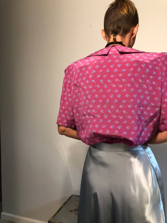 Vintage Secretary Blouse with Pussy Bow| Vintage … - image 4