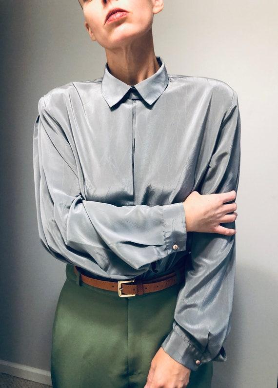Vintage Puff Sleeve Secretary Blouse| Gunnesax Sty