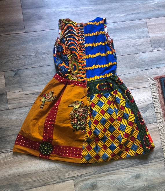 African patchwork dress XS - image 7