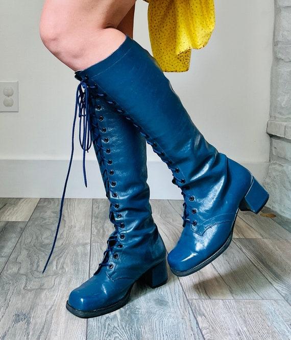 Vintage 70s Gogo Boots | square toe square heal vi