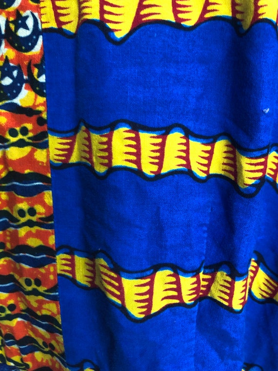 African patchwork dress XS - image 10