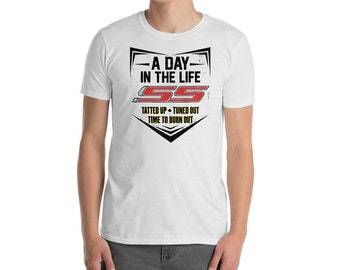791f75d4 CAMARO SS V8 themed muscle car Men's Short-Sleeve T-Shirt - Men's Chevy Camaro  shirt,Men's Camaro V8 T-shirt,Gift for Camaro owner