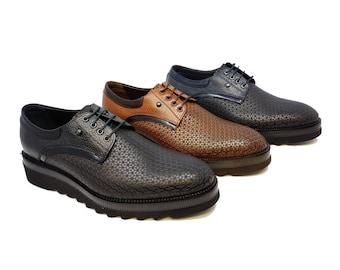 9d7bd9fb4382f Futoli Men 100% Genuine Leather Double Monk Dress Shoes | Etsy