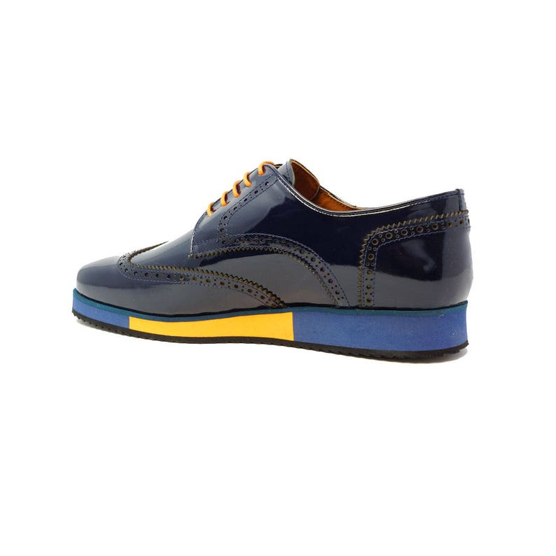 4745cdb2c46a1 Futoli Men Handmade %100 Genuine Leather Oxford Wingtip Trendy Fashion  Comfortable Shoes