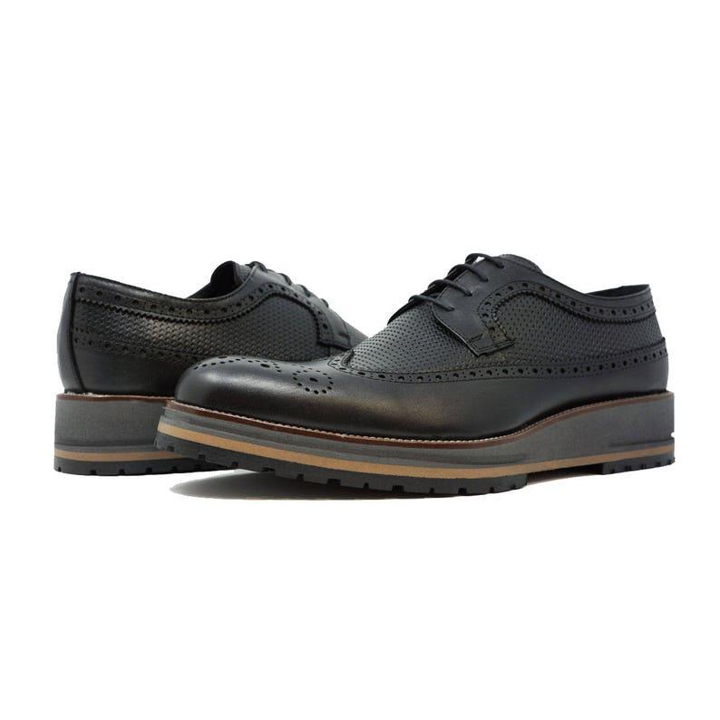 25b2c894bfd97 Futoli Men %100 Genuine Leather Oxford Wingtip Trendy Comfortable Shoes