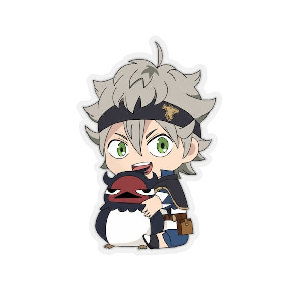 Black Clover Chibi Asta Nero Kiss Cut Sticker Etsy Julius novachrono is the current wizard king and was the former strongest magic knight in the clover kingdom. etsy