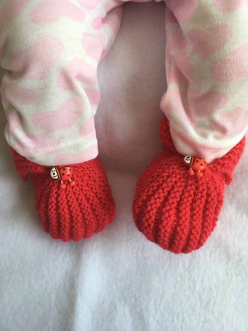 Set layette beanie slippers ladybug shoes 3-6 months ON COMMANDE
