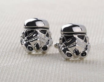 Silver Storm Trooper Cuff Links
